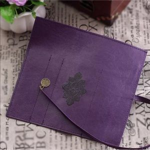 Retro Makeup Cosmetic Case Organizer Purple NEW